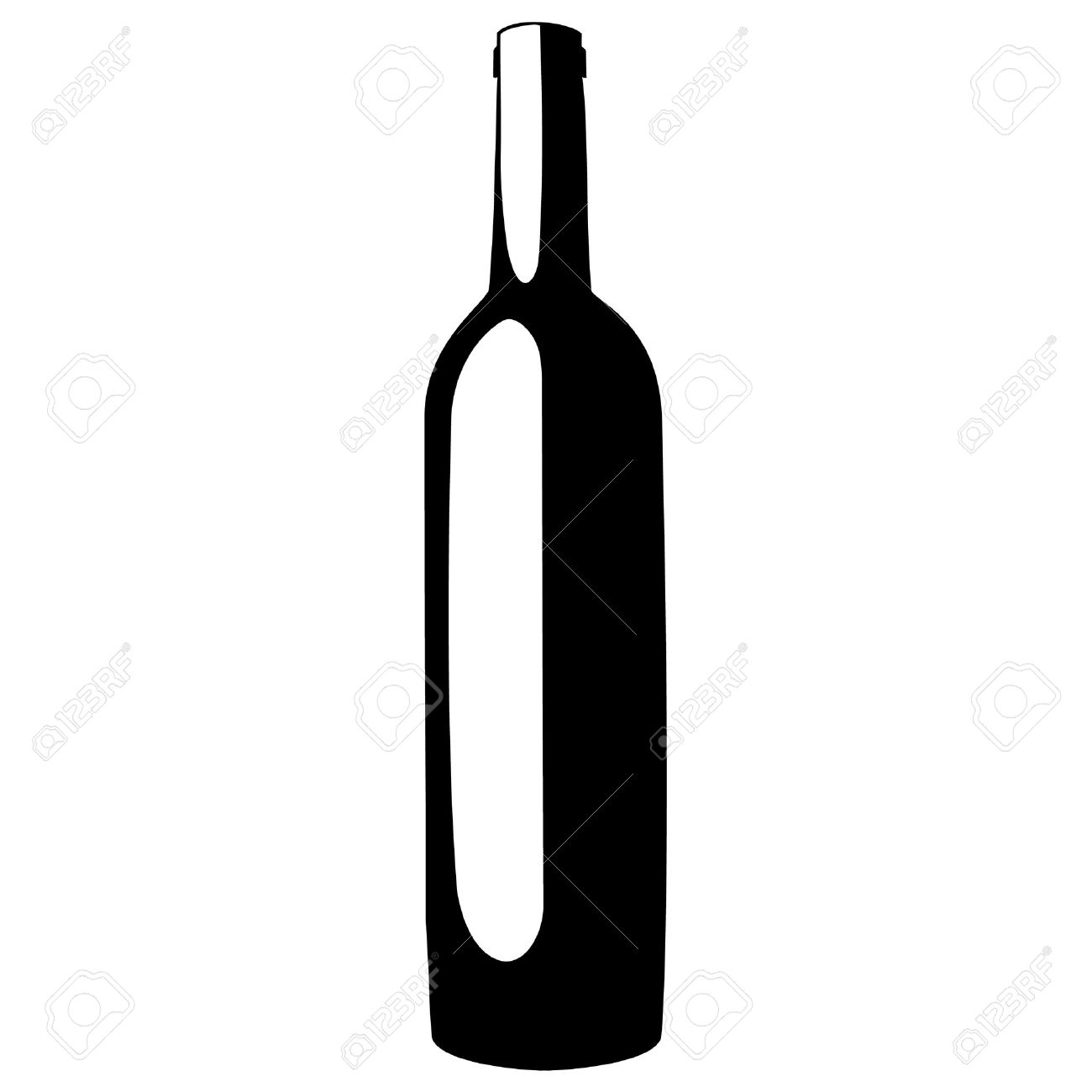 black silhouette of wine bottle vector illustration wine label rh 123rf com wine bottle vector icon wine bottle vector image
