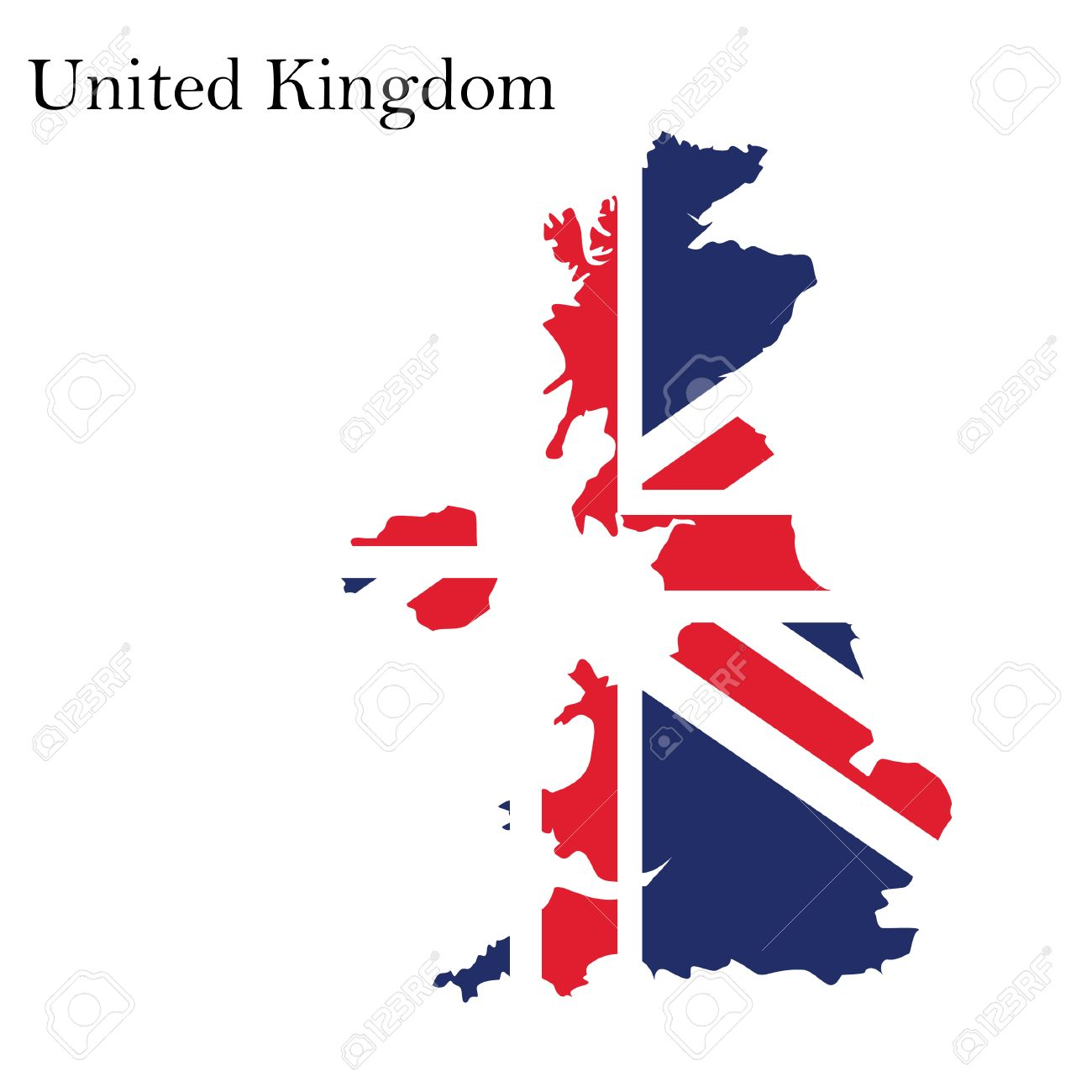 Uk Map Jpg.Vector Illustration Uk Map With Flag England Map United Kingdom