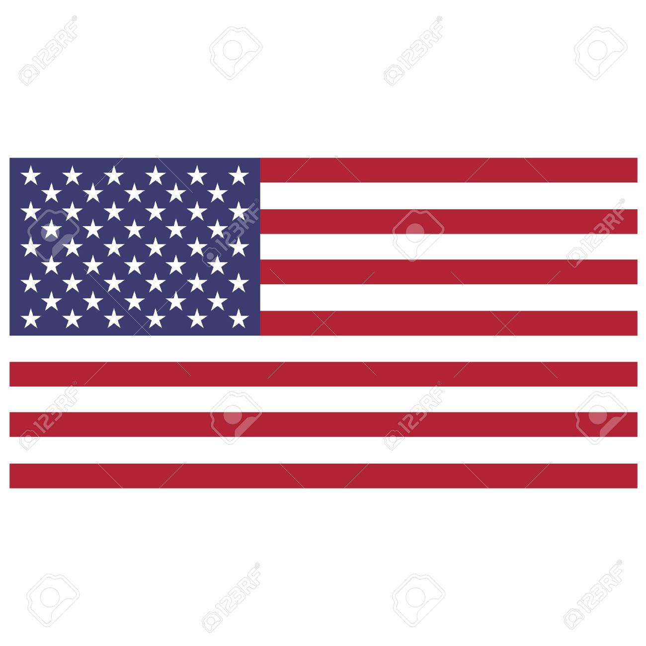 vector illustration of usa flag rectangular national flag of rh 123rf com usa flag vector file usa flag vector ai