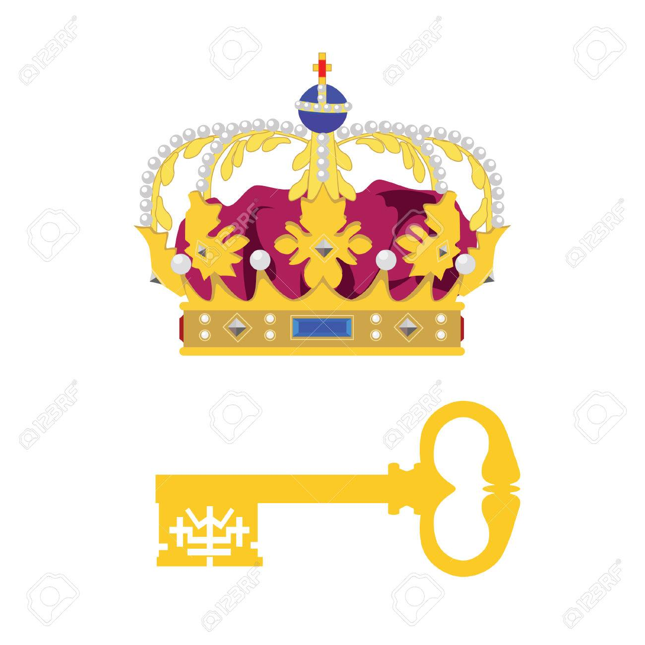 Crown Of King And Queen Vector Image Of Objects Lirch 12581
