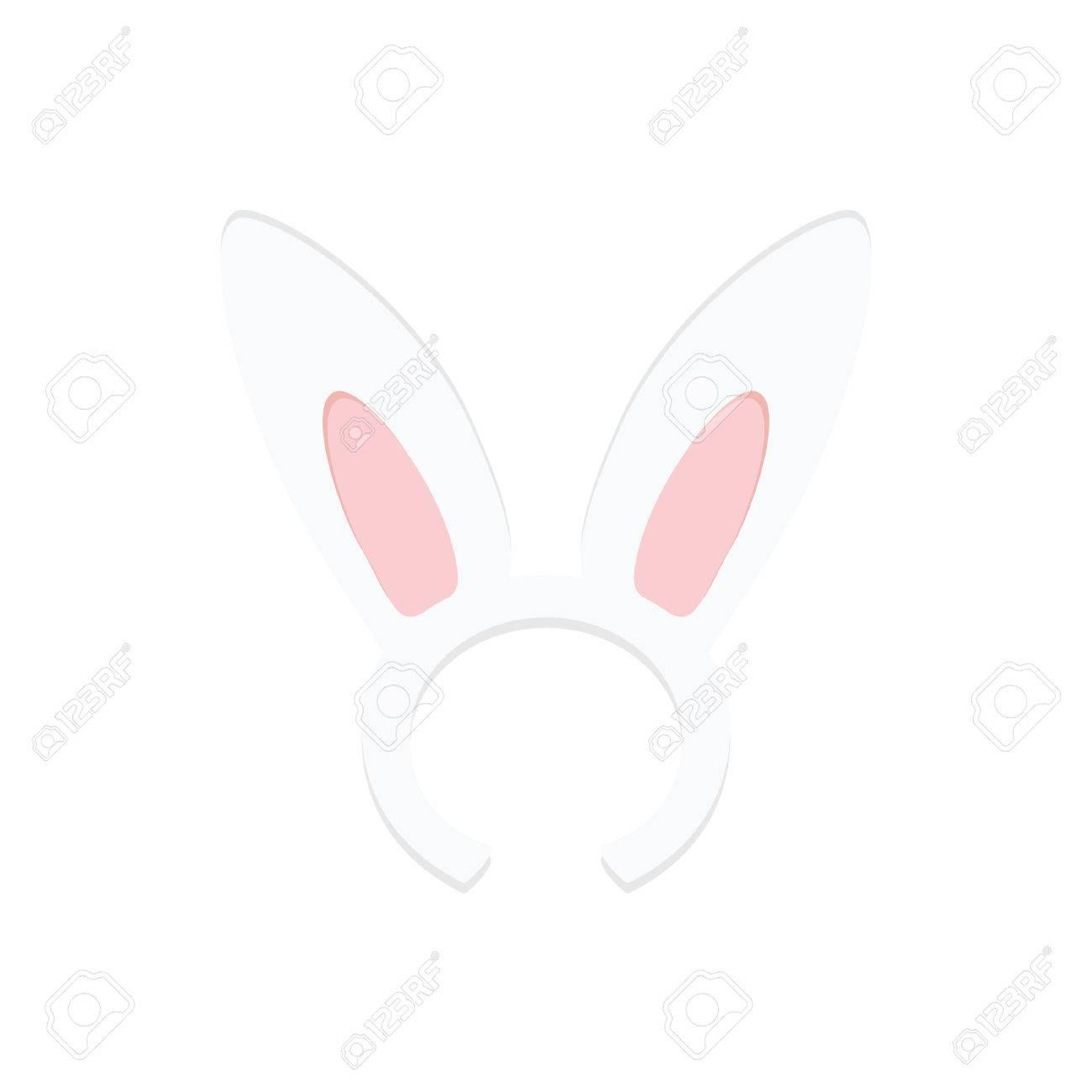 Rabbit Ears Vector Illustration. Easter Rabbit. Bunny Ears Hat ...