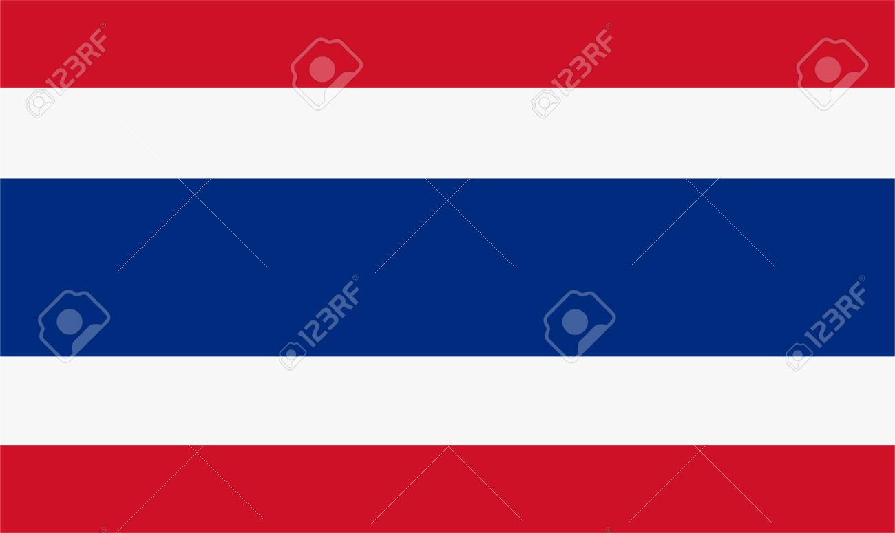 Vector illustration of thailand flag. Rectangular national flag of thailand - 44108480