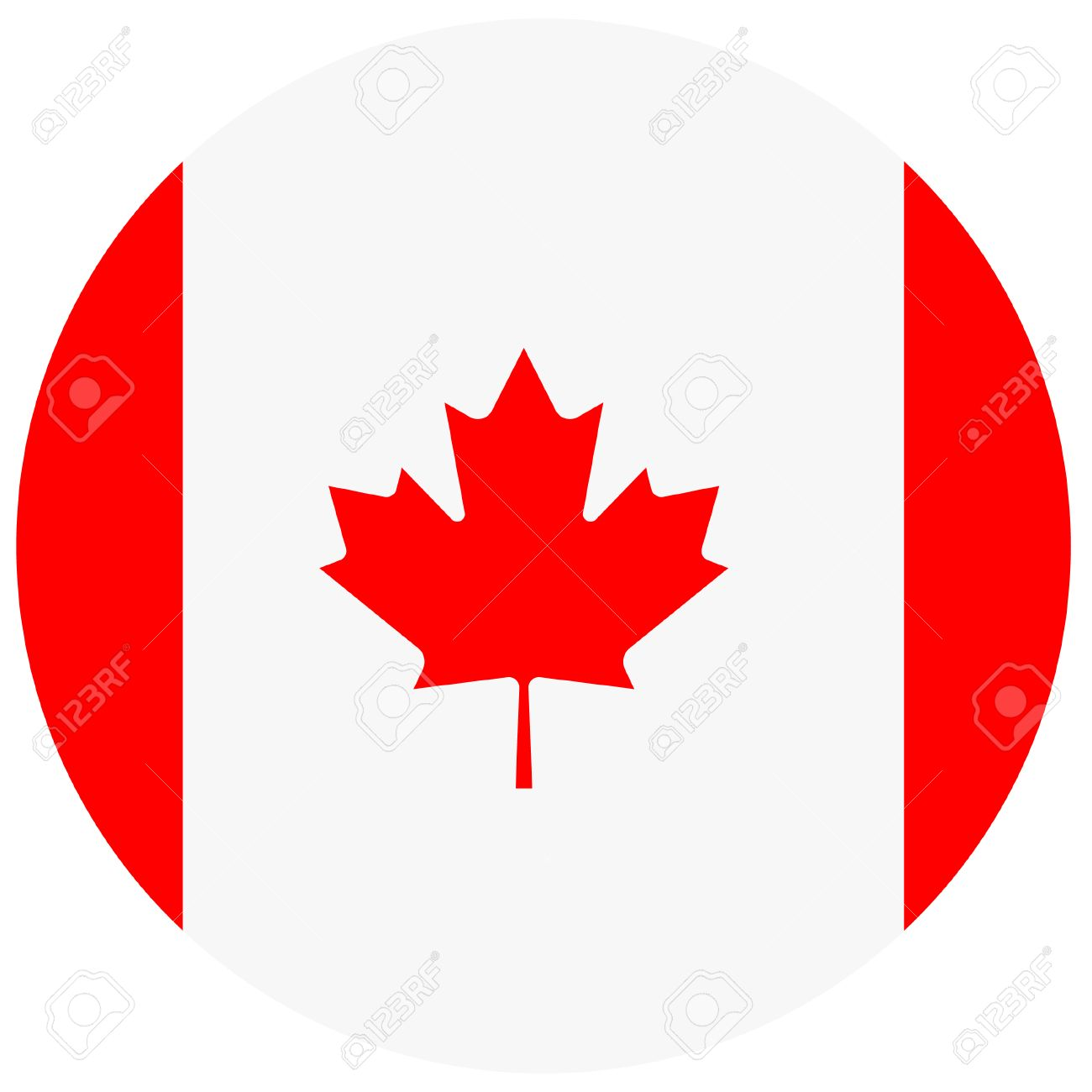 vector illustration of canada flag round national flag of canada rh 123rf com canadian flag vector free download canadian flag vector eps