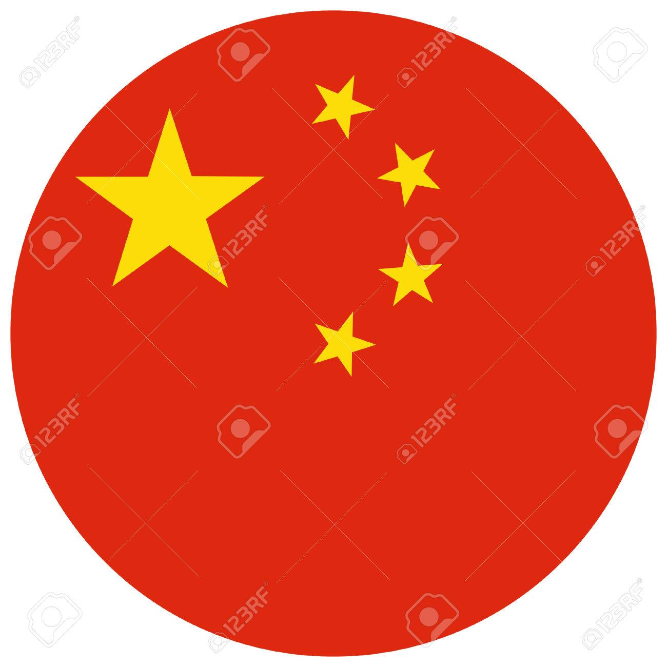 vector illustration of china flag round national flag of china rh 123rf com china map flag vector china flag vector eps free