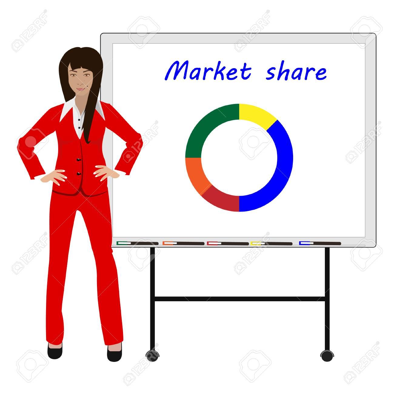 Ilustración Del Vector Del Gráfico De La Cuota De Mercado De ...