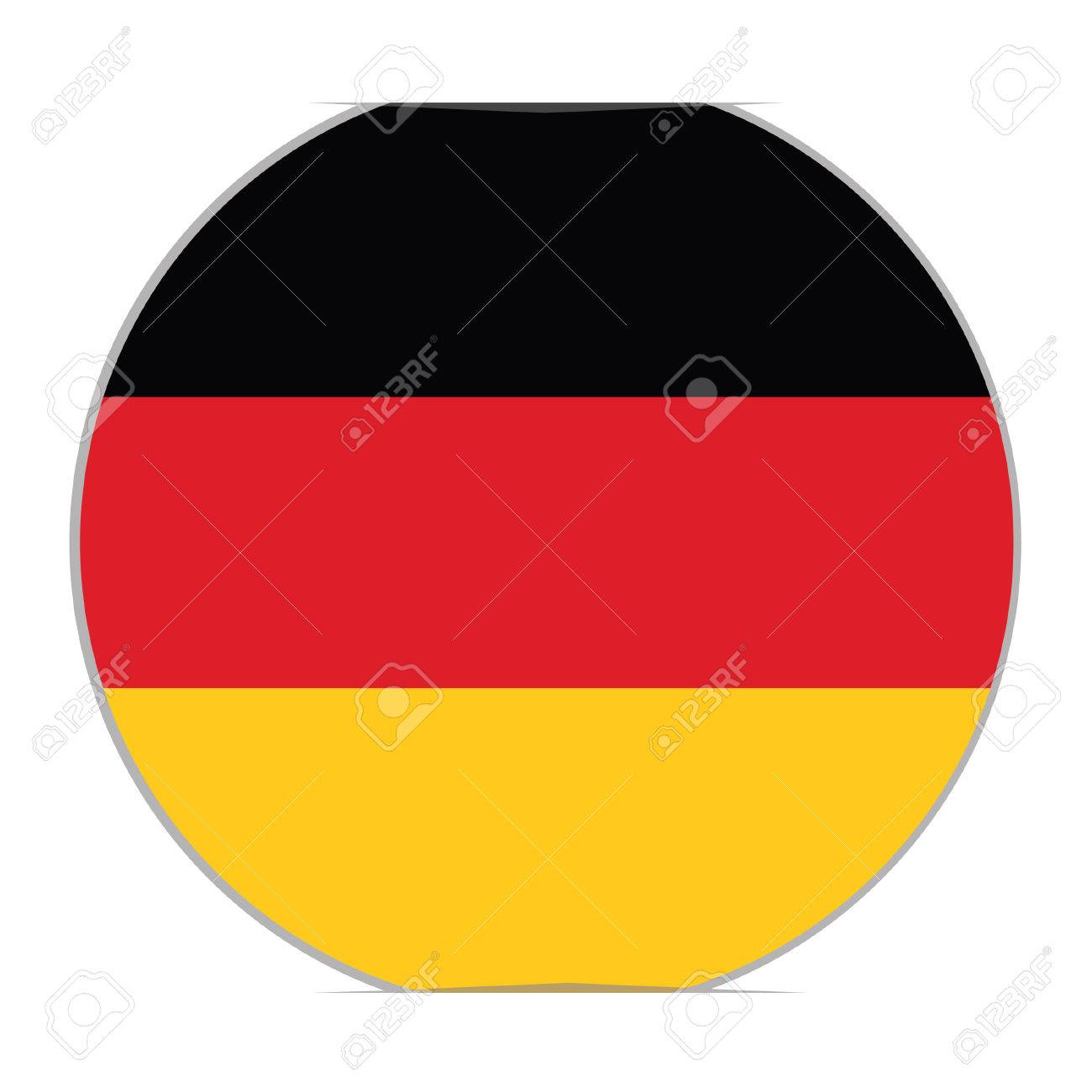 Round german flag vector icon isolated german flag button vector illustration flag of germany