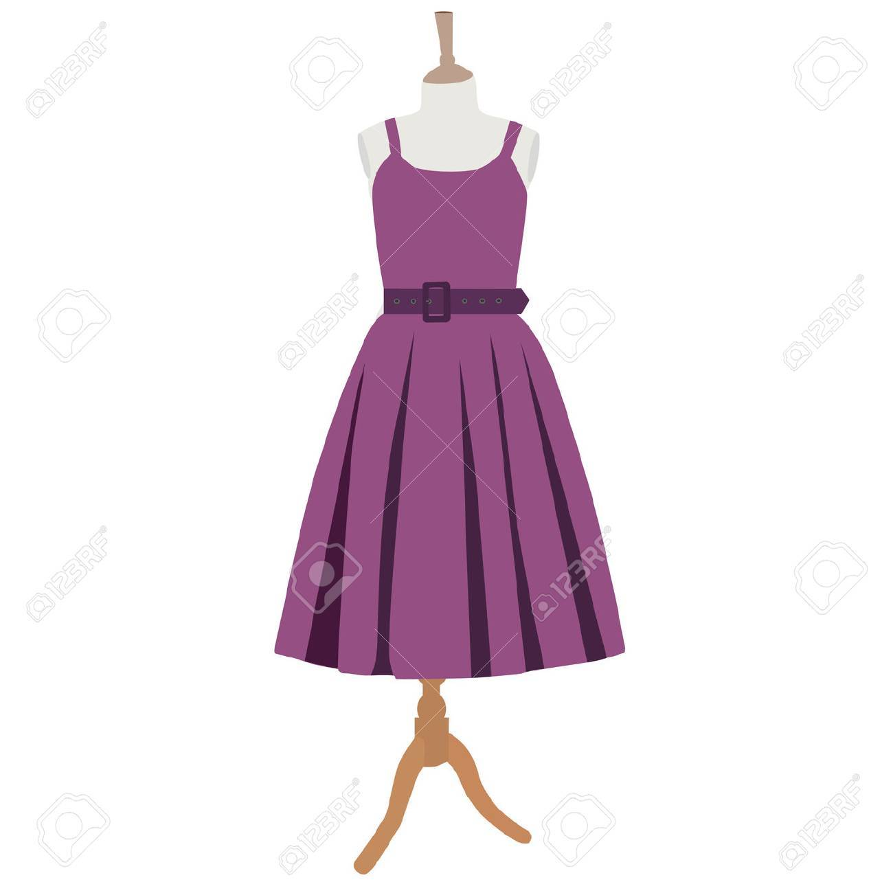 Vestido Púrpura, Sobre Maniquí Vestido, La Ropa, La Vendimia Fotos ...