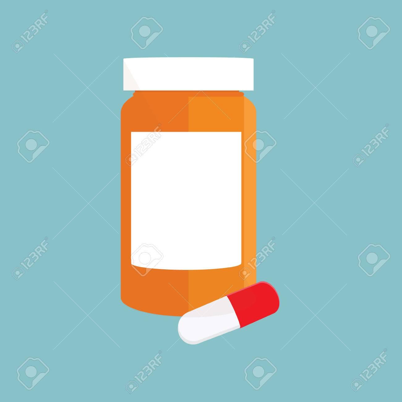 vector illustration white pill bottle with pills and capsules rh 123rf com pill bottle vector free Pill Bottle Clip Art