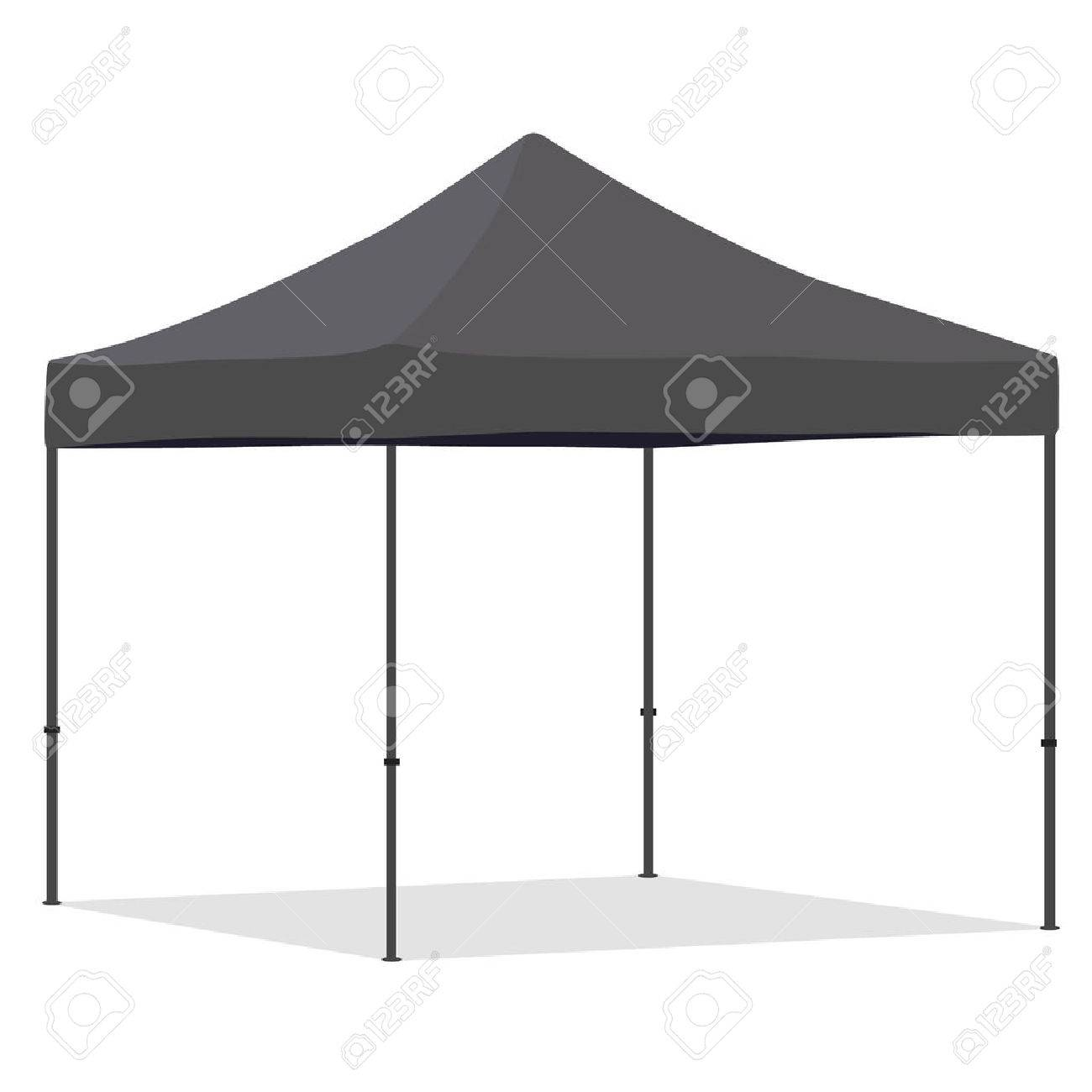 Grey folding tent vector illustration. Pop up gazebo. Canopy tent Stock Vector - 45912561  sc 1 st  123RF.com & Grey Folding Tent Vector Illustration. Pop Up Gazebo. Canopy ...