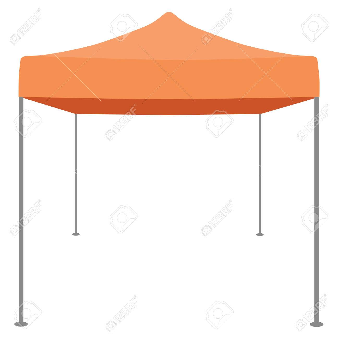 Orange folding tent vector illustration. Pop up gazebo. Canopy tent Stock Vector - 45912567  sc 1 st  123RF.com & Orange Folding Tent Vector Illustration. Pop Up Gazebo. Canopy ...