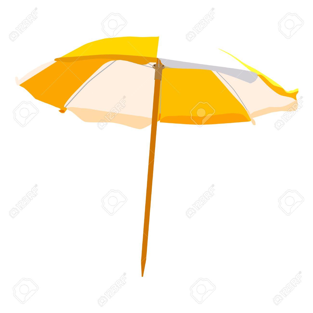 Beach umbrella, beach umbrella isolated, beach umbrella raster - 46534065