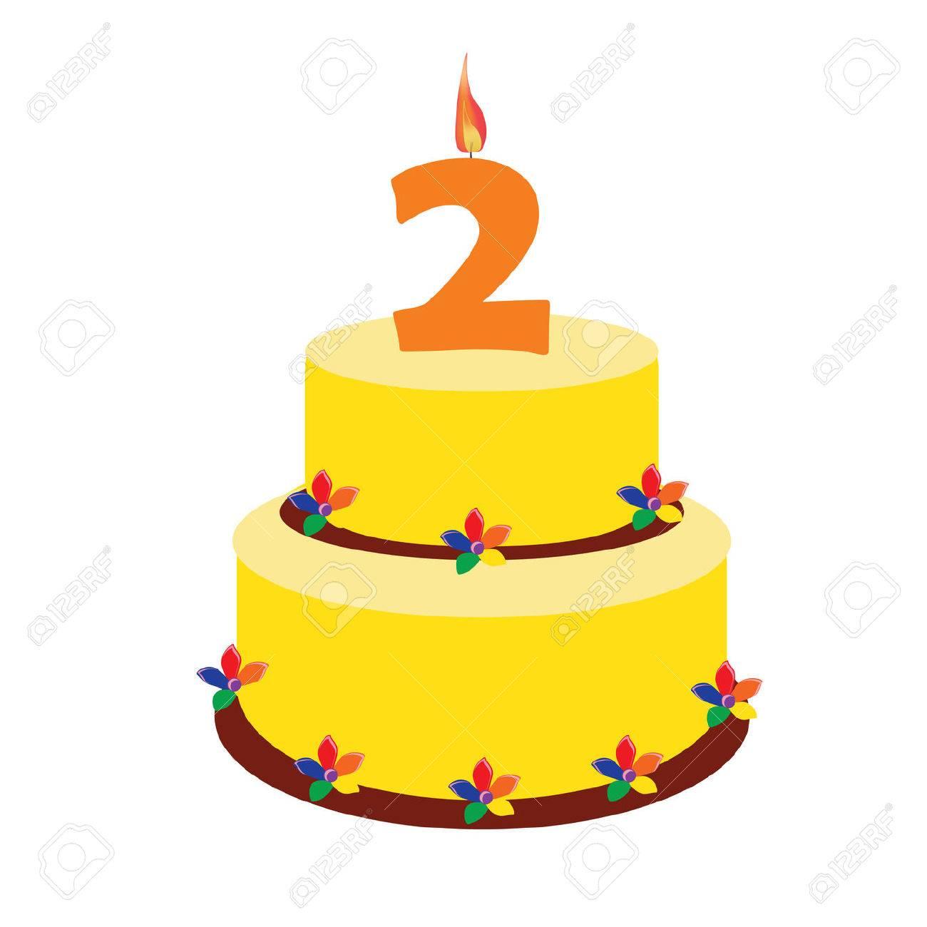 Fabulous Birthday Cake Two Years Second Birthday Raster Birthday Cake Funny Birthday Cards Online Fluifree Goldxyz
