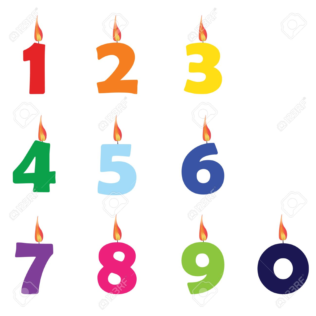 Super 48,077 Birthday Candle Stock Vector Illustration And Royalty Free  XD79