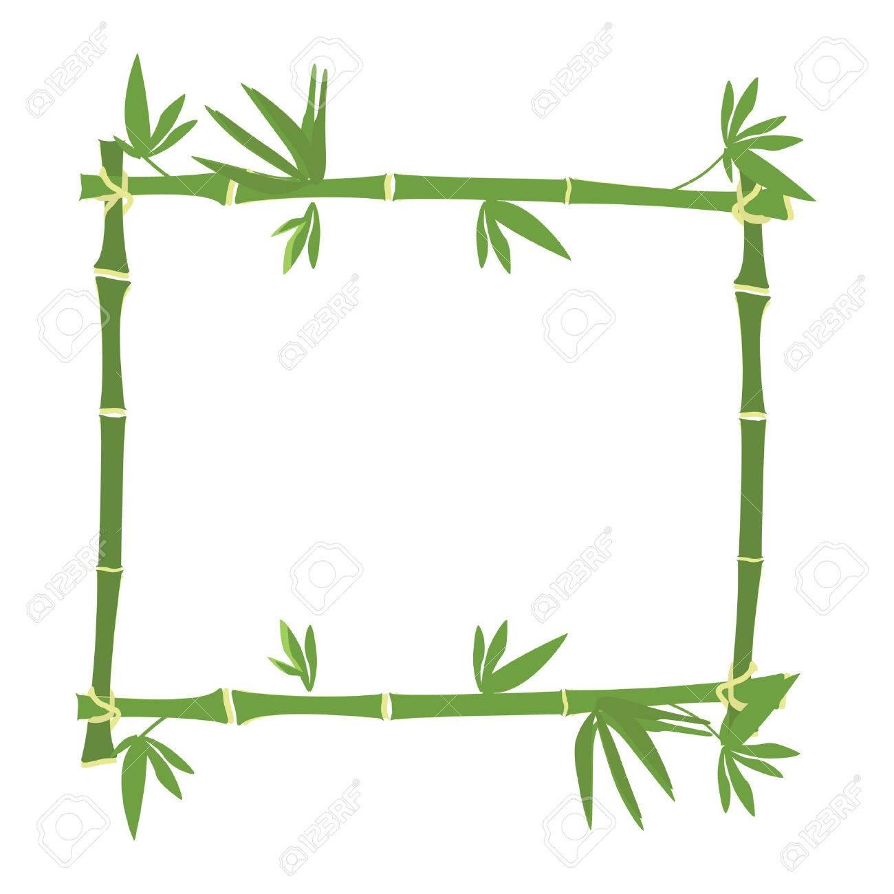Bambus-Rahmen, Bambus Grenze Raster, Grüner Bambus Lizenzfreie Fotos ...