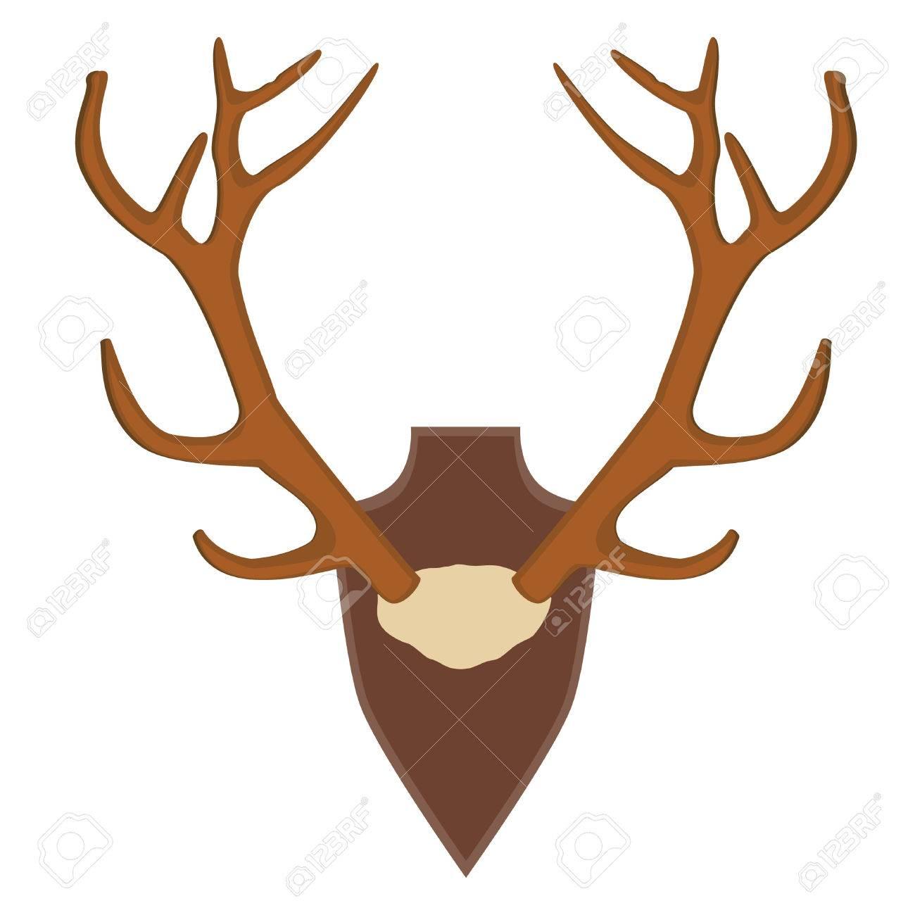 Illustration Of Deer, Antler Horns. Animal Horn Royalty Free ...
