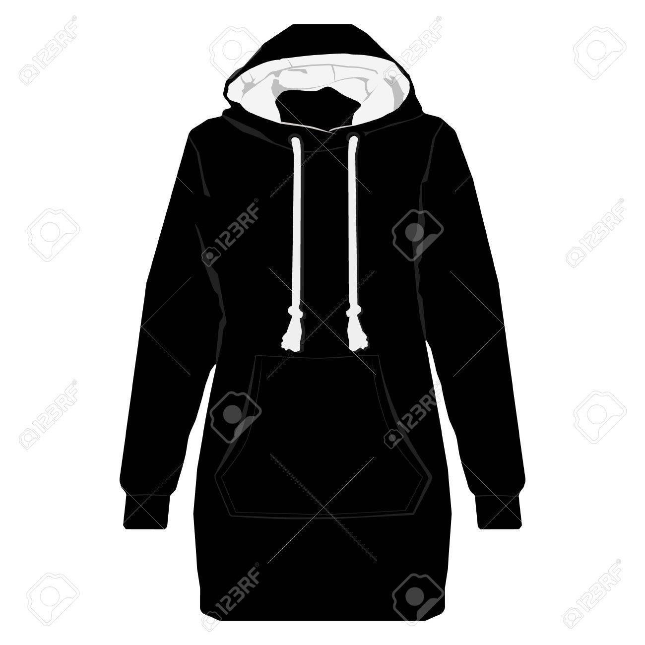 Illustration Black Unisex Sport Jacket With Long Sleeves Pocket