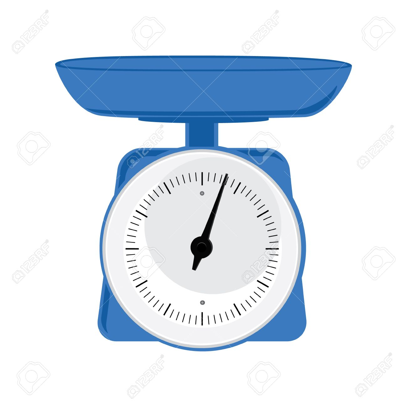 vector illustration blue weight scale on white background weighing