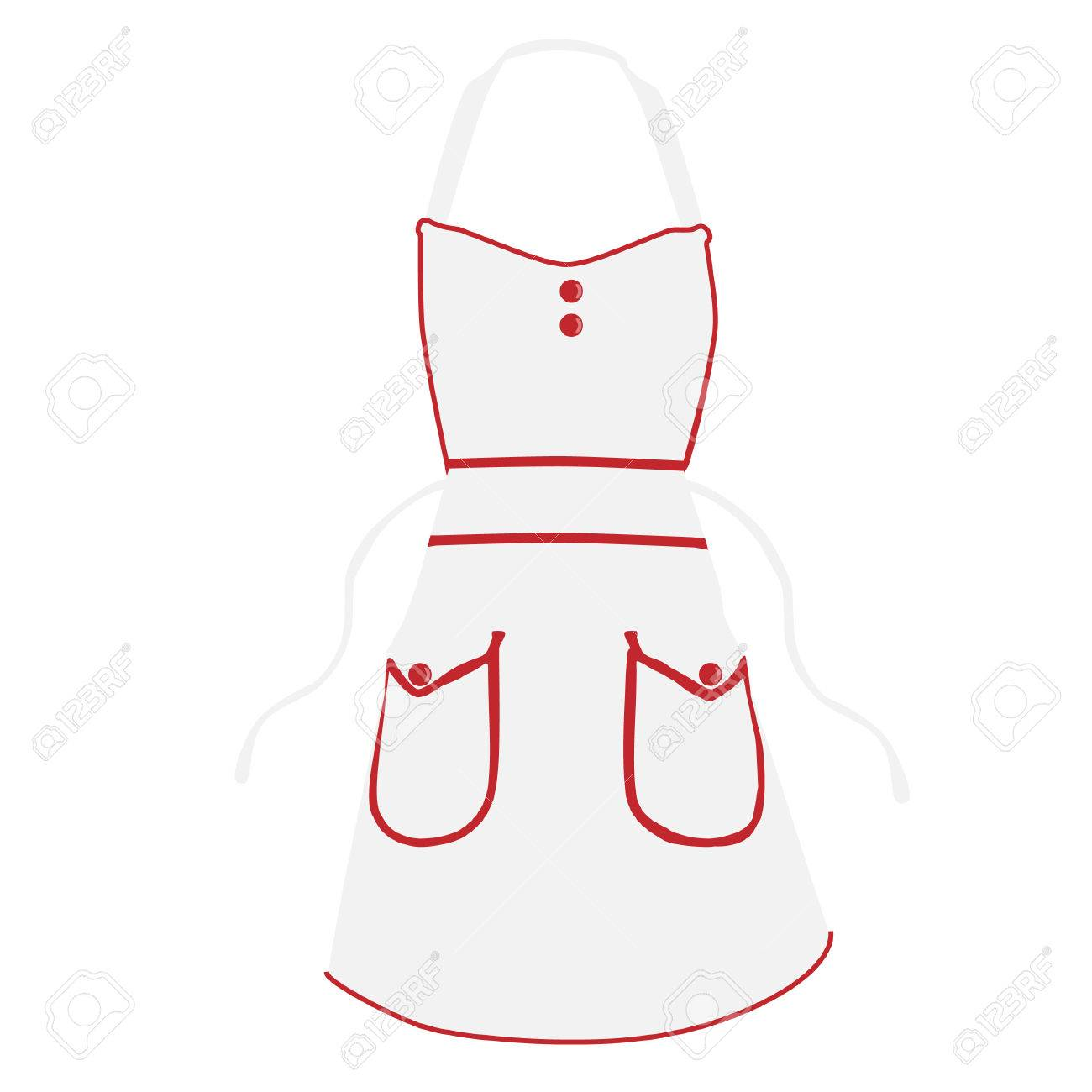 White Kitchen Apron Raster Isolated, Chef Apron Stock Photo, Picture ...