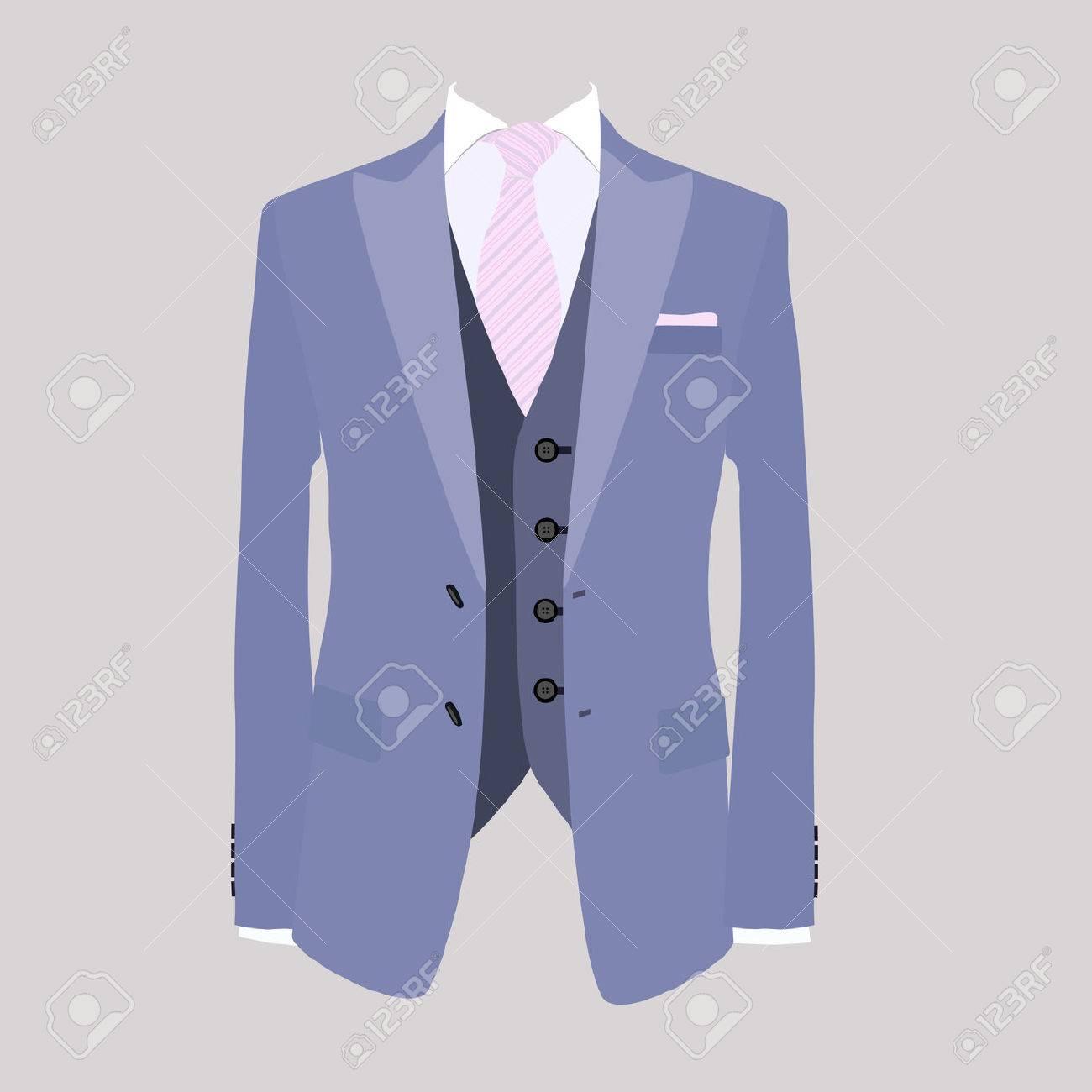 Illustration of man suit, tie, business suit, business, mens suit, man in suit - 50452707