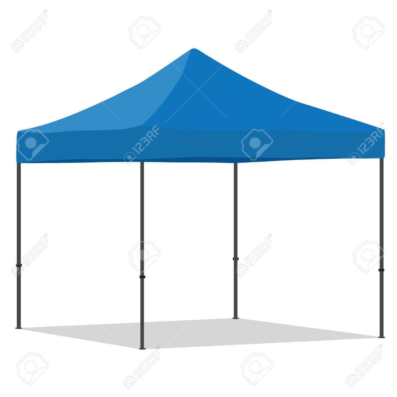 Blue folding tent vector illustration. Pop up gazebo. Canopy tent Stock Vector - 51954872  sc 1 st  123RF.com & Blue Folding Tent Vector Illustration. Pop Up Gazebo. Canopy ...