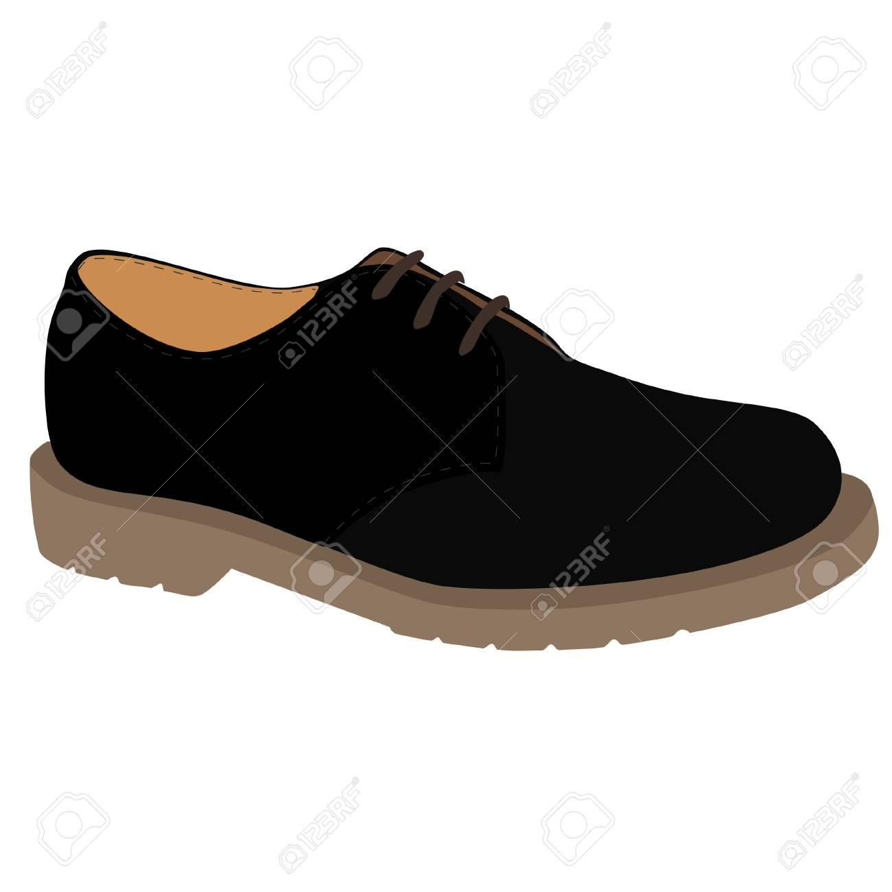 Noir Cuir Chaussures Sport De En Icône Isolé Raster Mode lJ1c3TFK