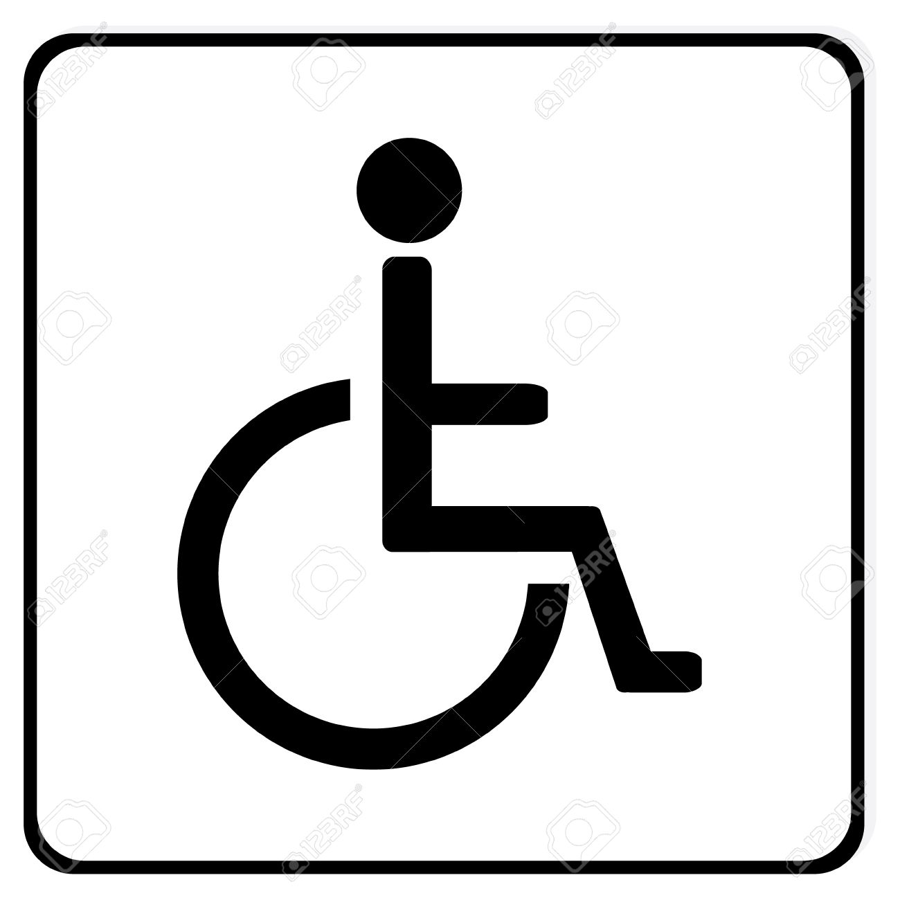 disabled handicap vector icon wheelchair disabled parking only rh 123rf com handicap symbol vector file handicap symbol vector art