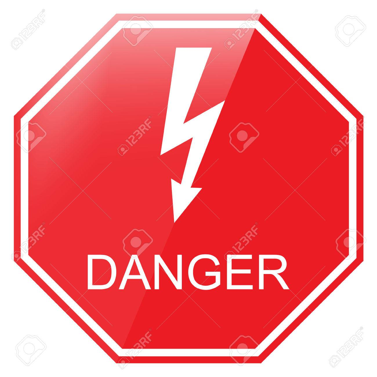Vector illustration red octagon danger sign danger warning sign vector illustration red octagon danger sign danger warning sign high voltage symbol stock vector buycottarizona