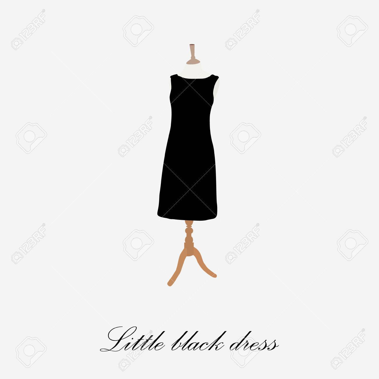Black dress cocktail icon