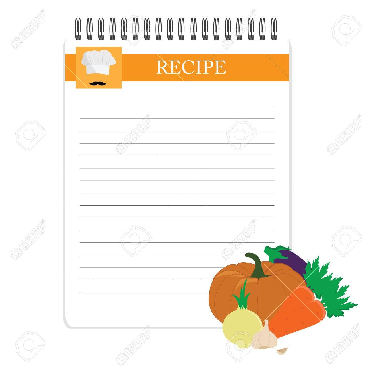 Rezeptkarte. Küchen Note Leere Vorlage Raster-Darstellung. Kochen ...