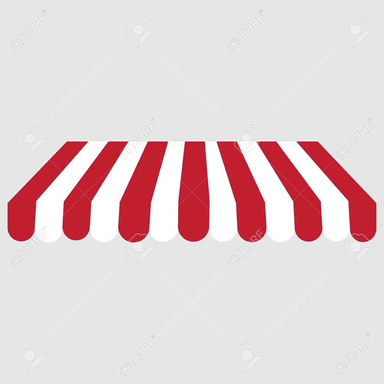 Striped red and white shopstore window awning raster icon. Striped awning canopy  sc 1 st  123RF.com & Striped Red And White Shopstore Window Awning Raster Icon ...