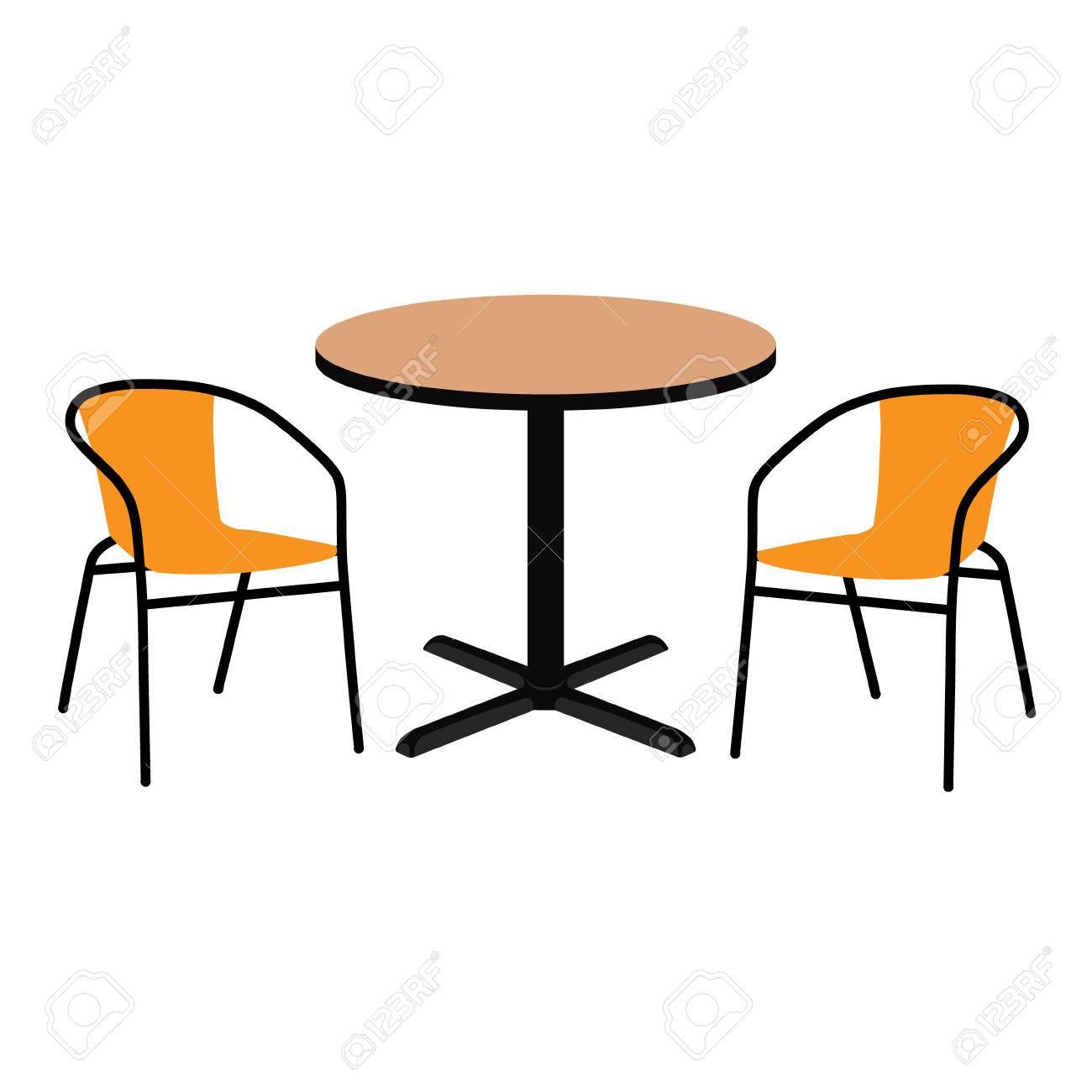 Tavoli E Sedie In Legno Per Esterno.Immagini Stock Raster Illustrazione Tavolo Esterno In Legno E Due