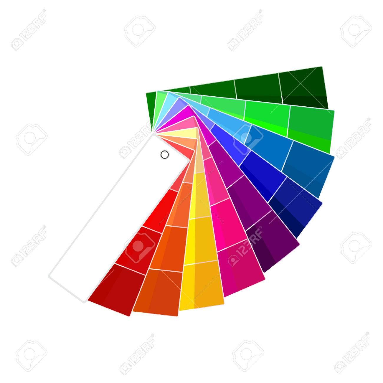 Ilustración Del Vector De La Guía Del Color. Muestras De Color ...