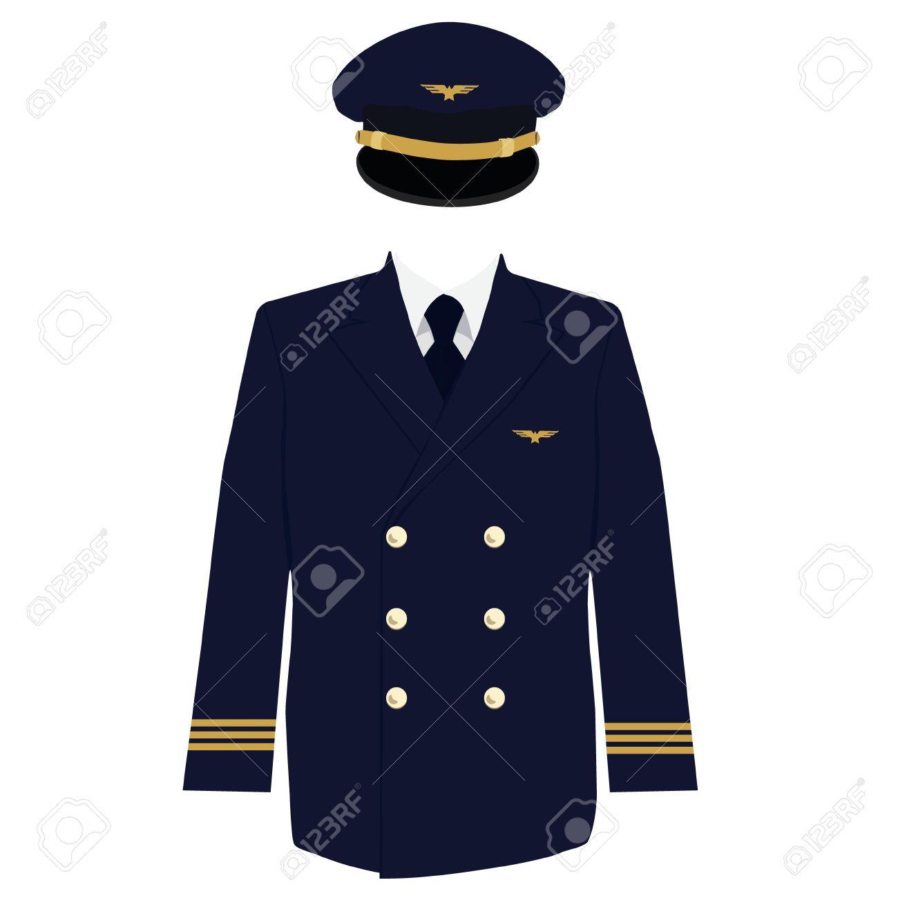 Ilustración De La Trama Piloto, Capitán, Capa Uniforme De Aviador Y ...