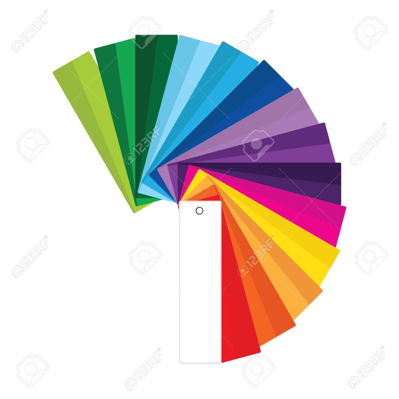 Ilustración De La Trama De La Guía De Color. Muestras De Color ...
