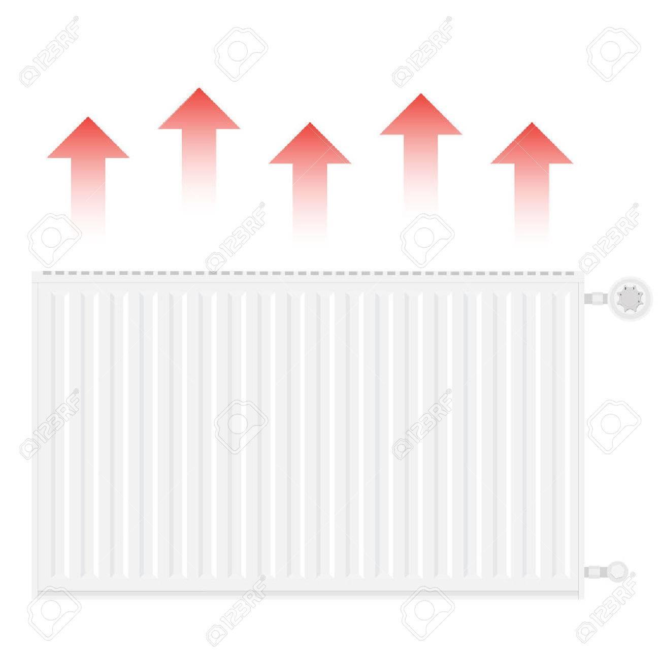 Vektor-Illustration Realistisch Weiß Heizkörper. Zentralheizung ...