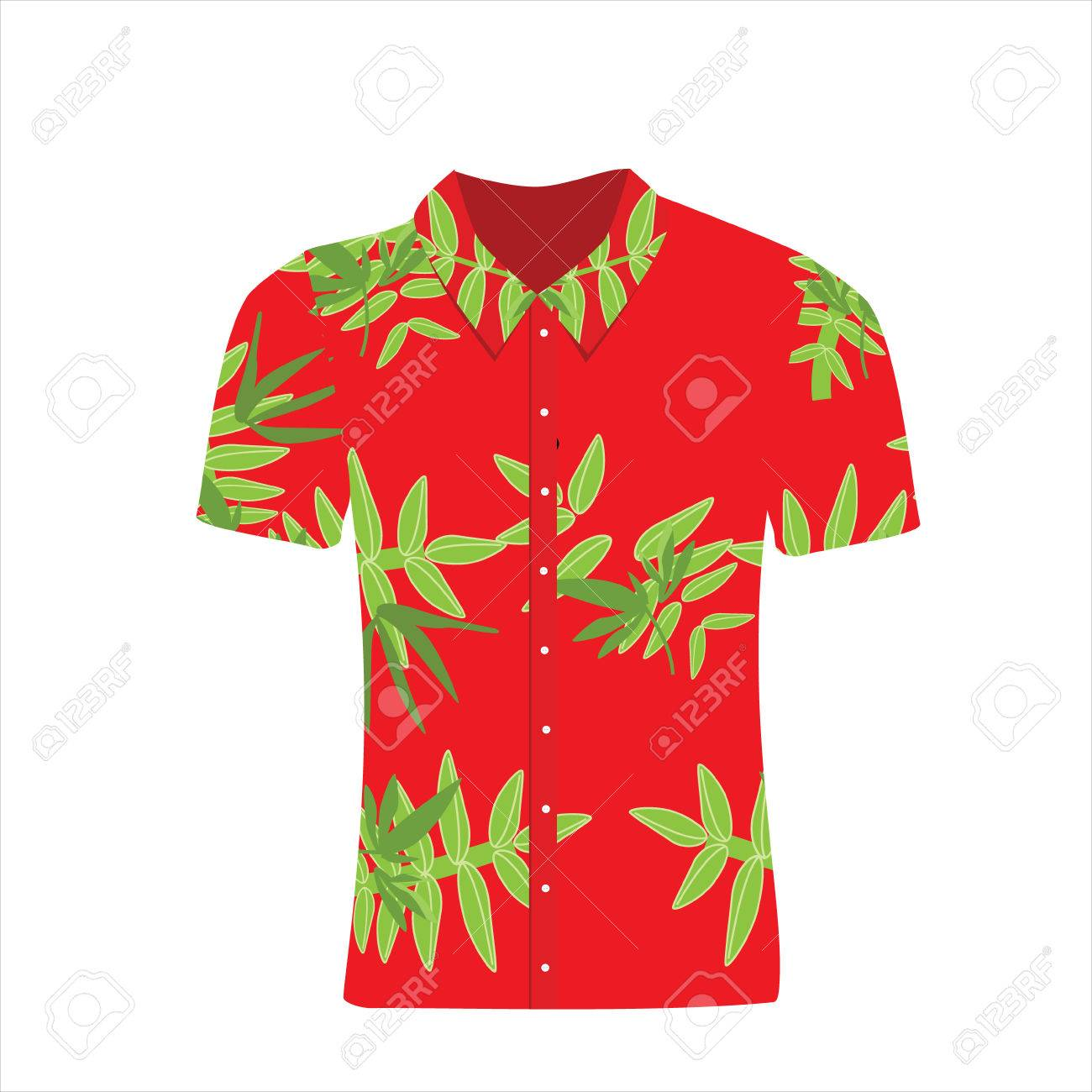 0d619ec5c Vector - Vector illustration Hawaiian aloha shirt. Beach male cloth. Hawaii  shirt adult clothing pattern design and modern flat hawaii shirt textile.