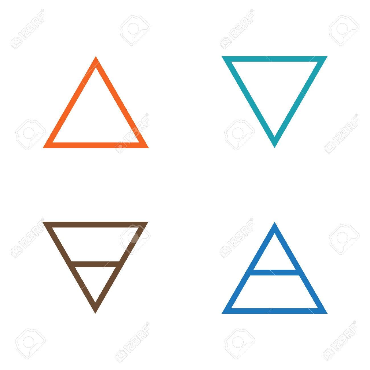 Vector Illustration Four Elements Icons Line Symbols Air