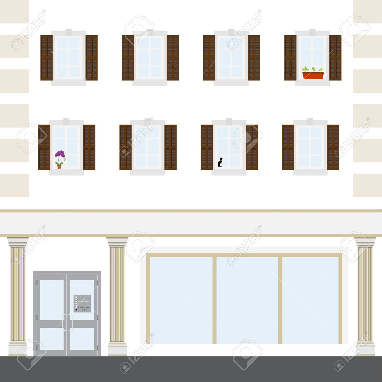 Raster illustration coffee shop facade building facade of a coffee foto de archivo raster illustration coffee shop facade building facade of a coffee shop store or cafe malvernweather Image collections