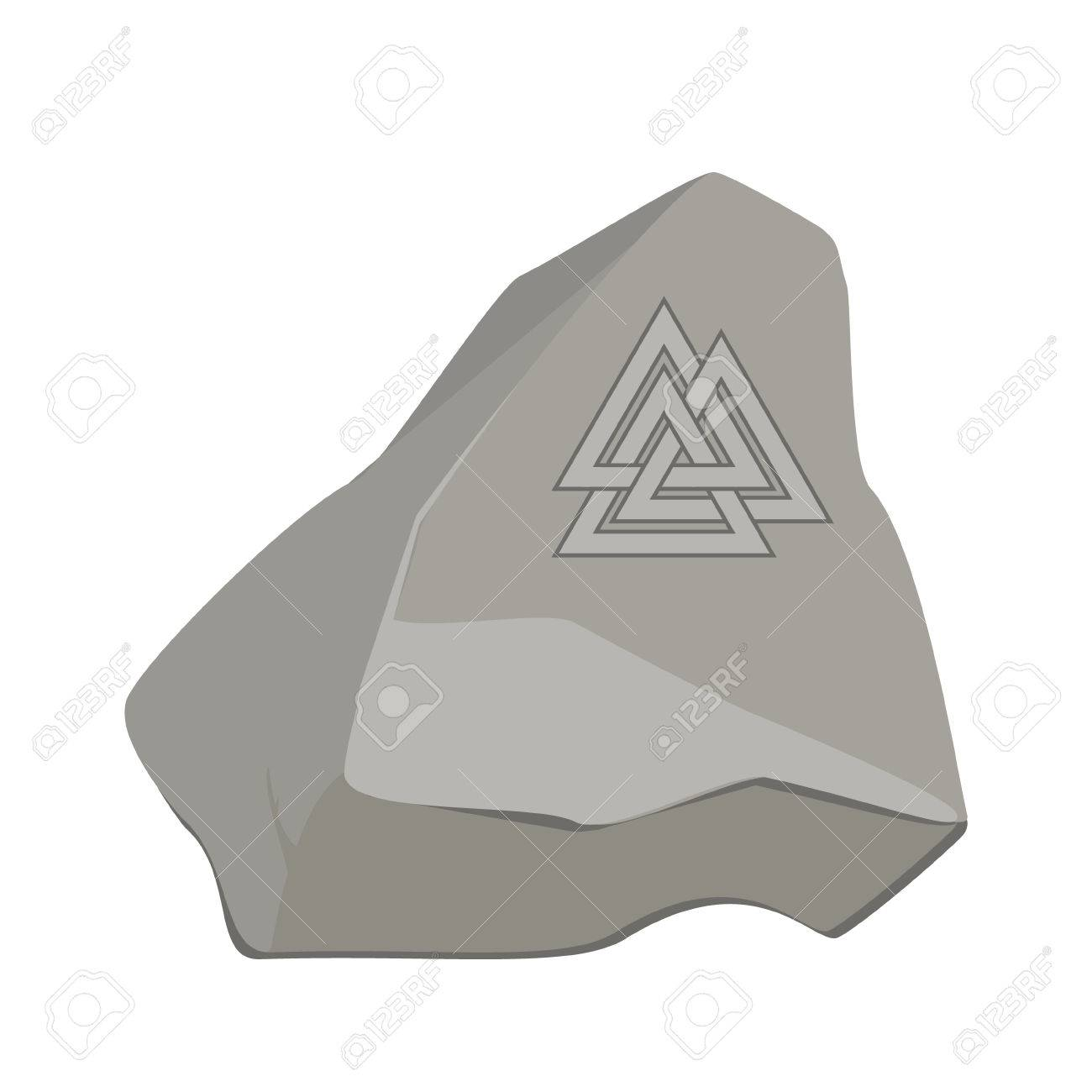 Valknut symbol of the world end of the tree yggdrasil on stone valknut symbol of the world end of the tree yggdrasil on stone rock sign buycottarizona