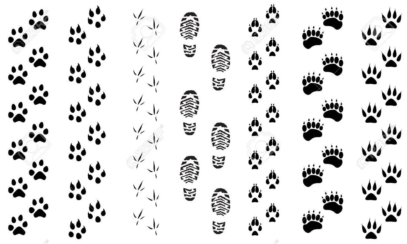 ラスター図の動物や鳥の足跡トラック アイコンを設定。足を踏み入れた