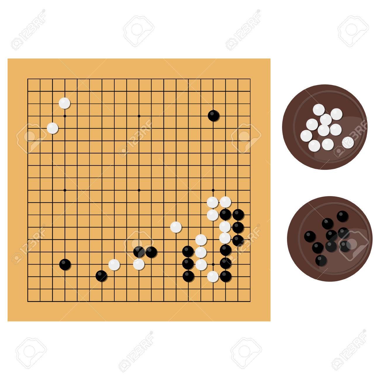 Raster Ilustracion Tradicional Chino Japones Juego De Mesa De