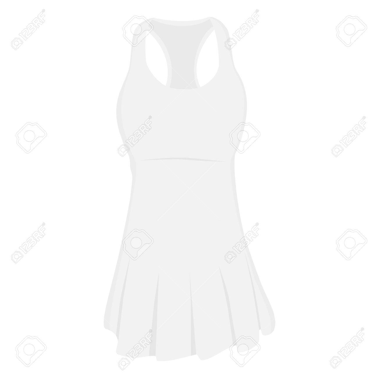 2baac8190 Foto de archivo - Vestido deportivo blanco para niña