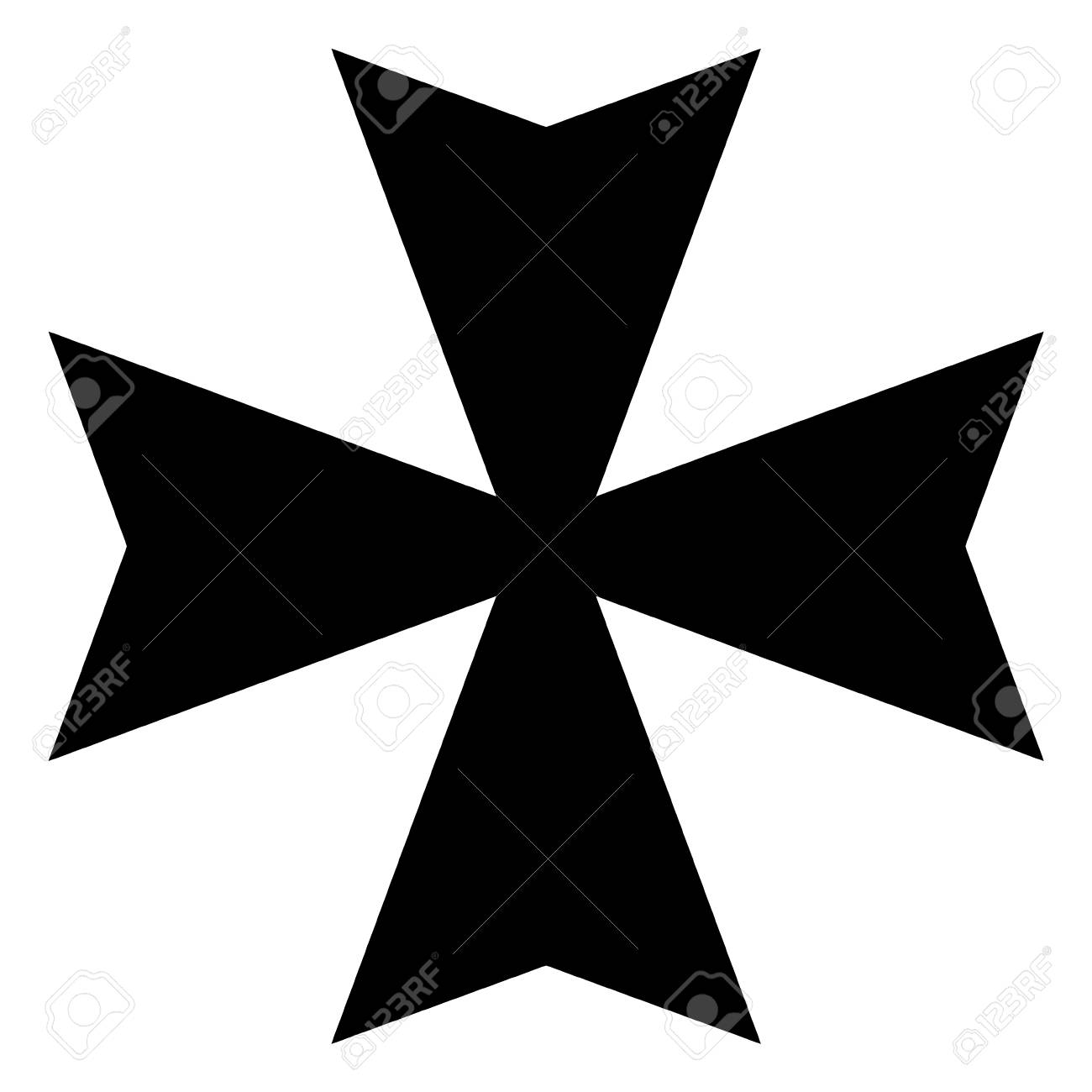 vector illustration black sign maltese cross icon isolated on rh 123rf com