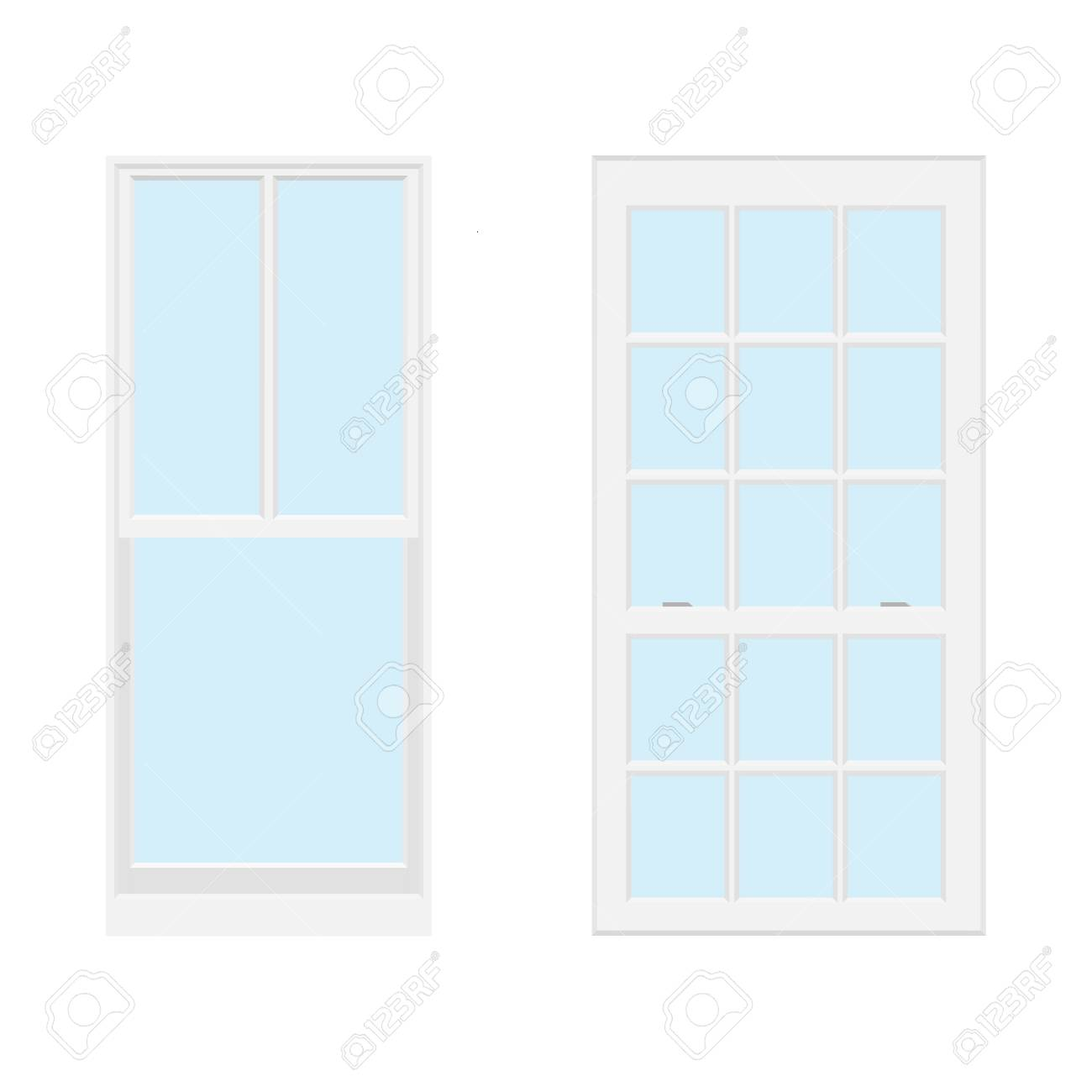 Raster Collection Of Various Windows Types For Interior And Stock Photo Picture And Royalty Free Image Image 82834177