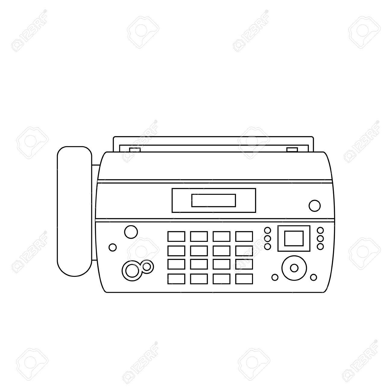 fax machine office phone equipment telephone, connection office phone,  digital fax receiver line icon
