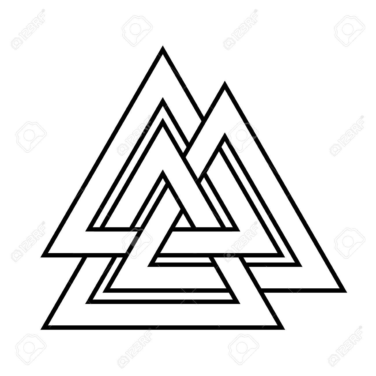 Valknut Symbol Of The World End Of The Tree Yggdrasil Sign Of