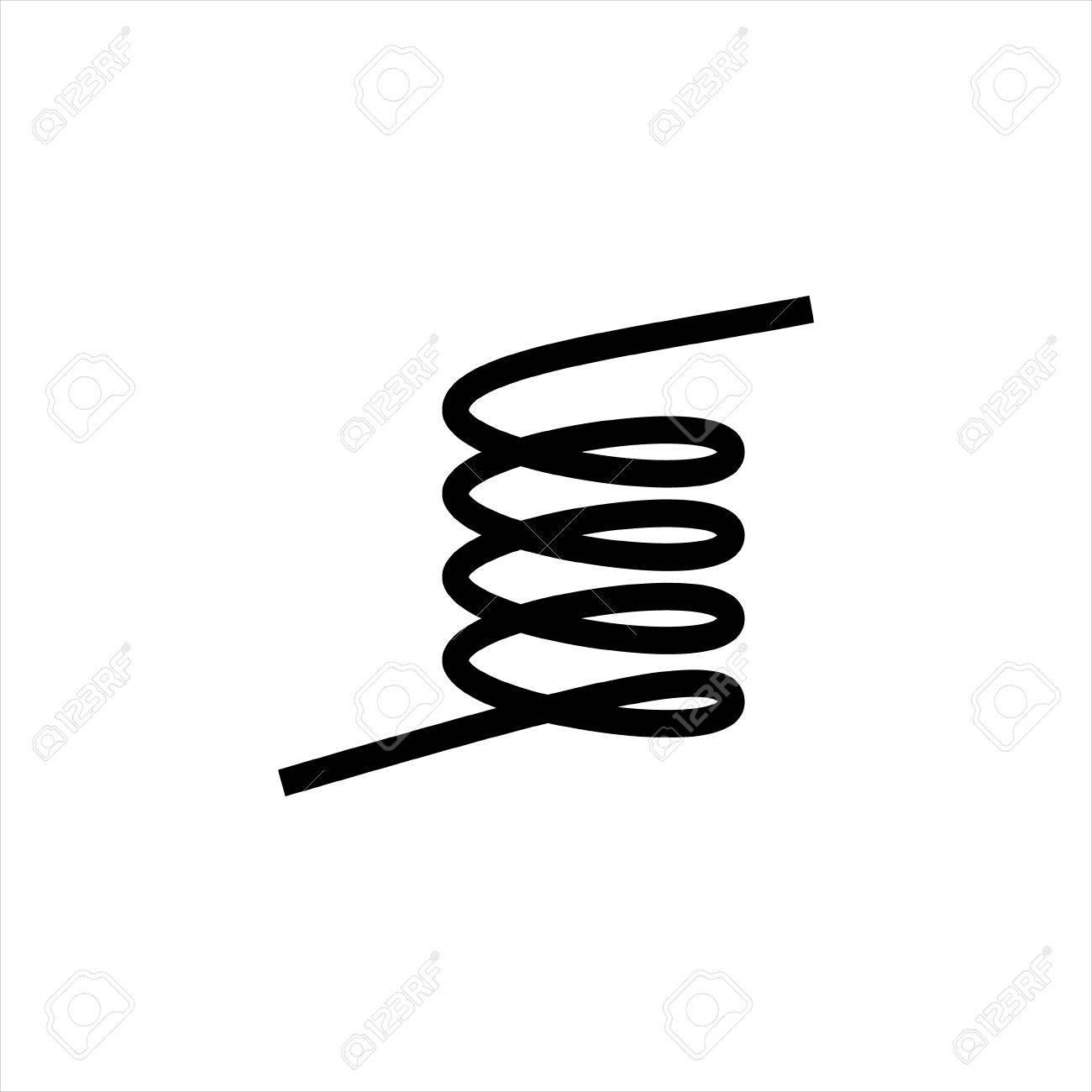 Vektor-Illustration Schwarz Silhouette Der Frühling Symbol Isoliert ...