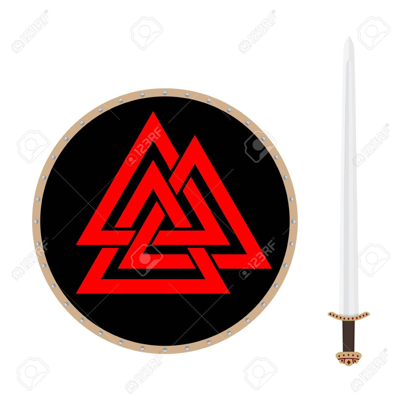 Valknut symbol of the world end of the tree yggdrasil and viking valknut symbol of the world end of the tree yggdrasil and viking sword sign of biocorpaavc