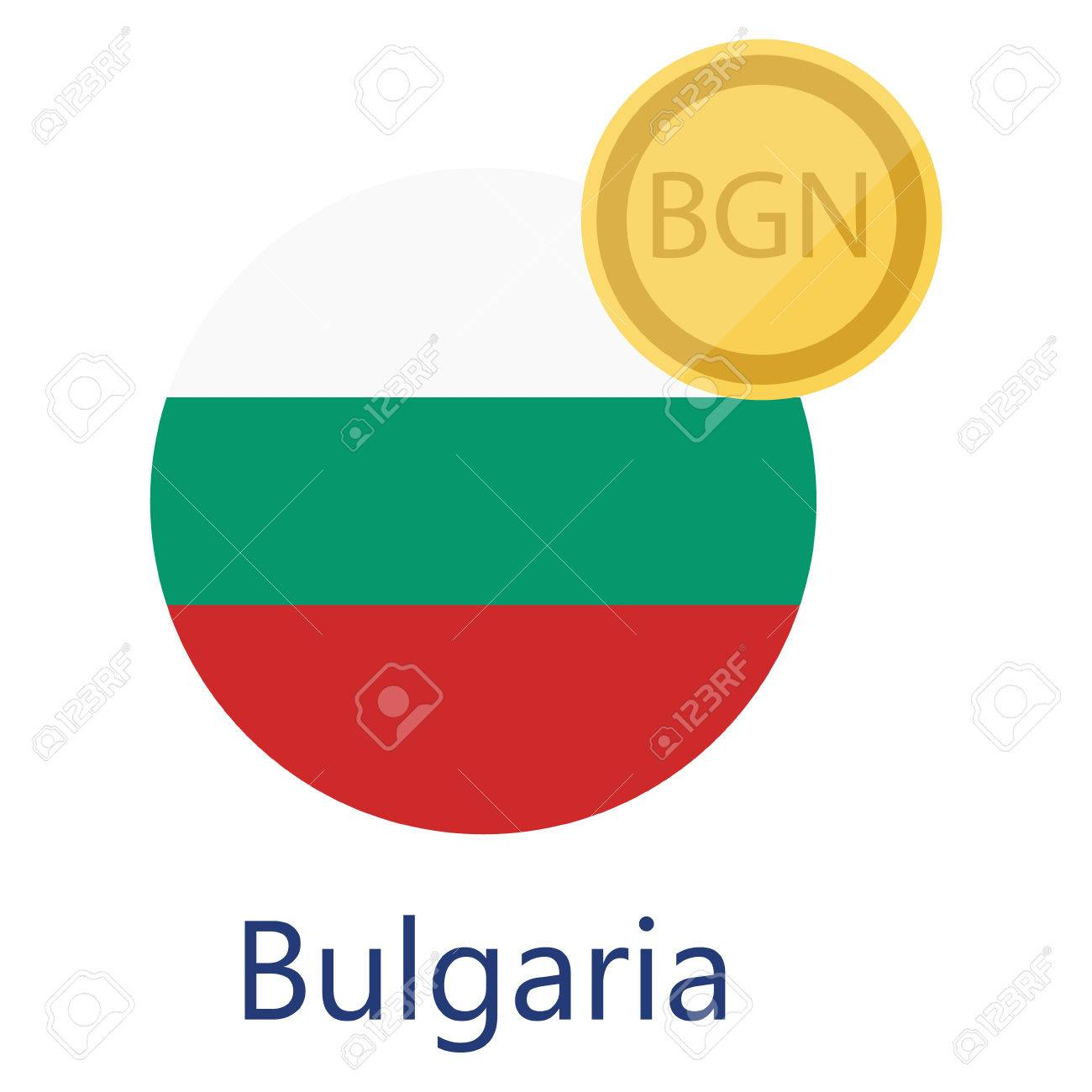 Vector illustration bulgarian round flag and currency symbols vector illustration bulgarian round flag and currency symbols bgn bulgarian lev bulgaria stock vector biocorpaavc