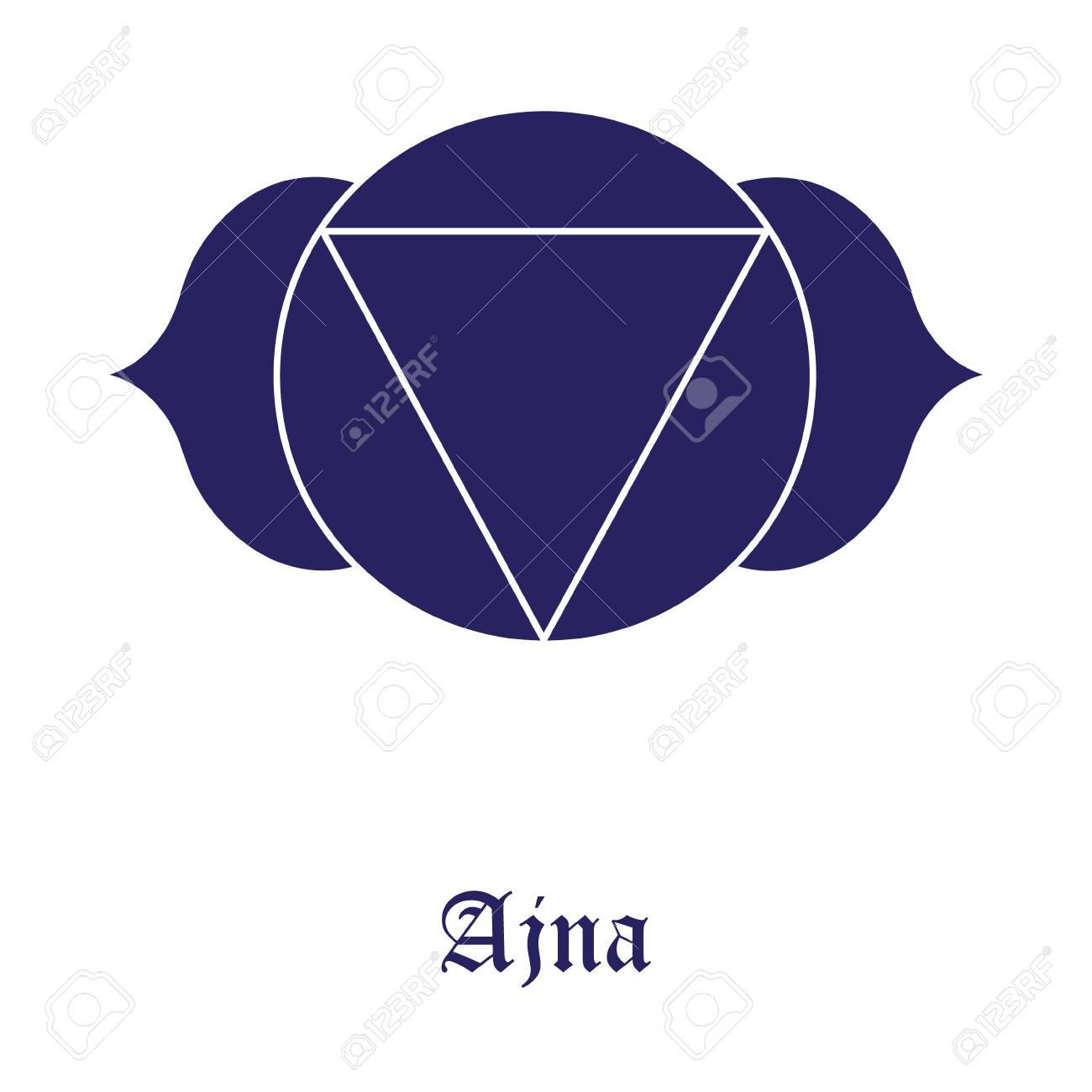 Ajna Chakra Symbol Raster Illustration The Third Eye Chakra Stock